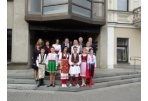 The Guests of Children Folk Dance and Song Festival visited the City Hall